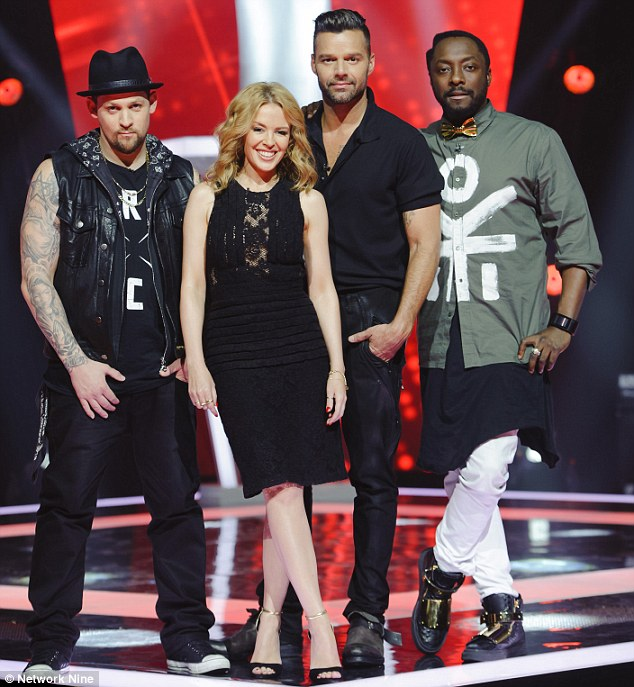 The Voice Coaches, 2014. If you don't know who is who, you shouldn't be reading this post.