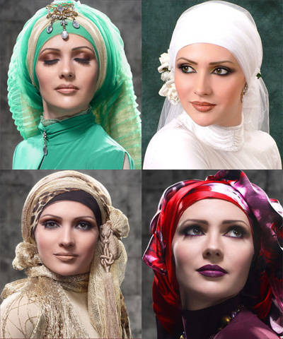 Hijab styles are as varied as hair styles.