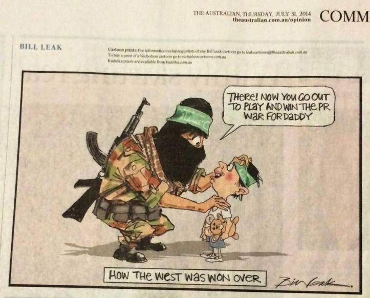 Bill Leak cartoon in The Australian, 31 July 2014