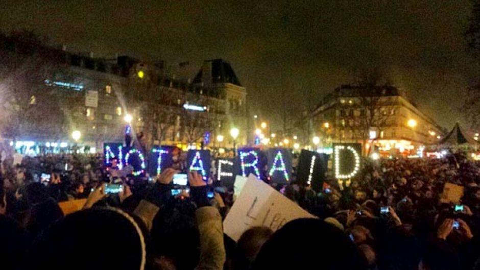 Charlie Hebdo Not Afraid