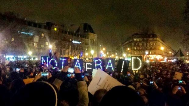 Charlie Hebdo Not Afraid