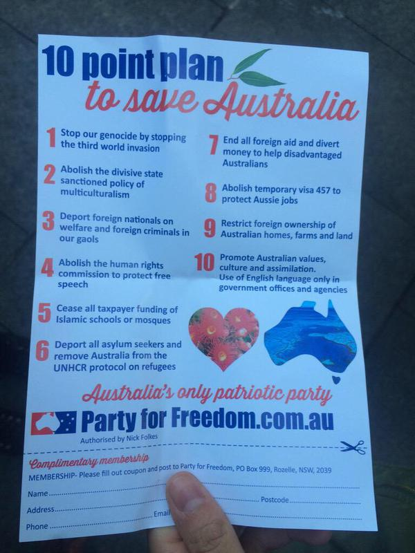 Reclaim Australia 10 point plan