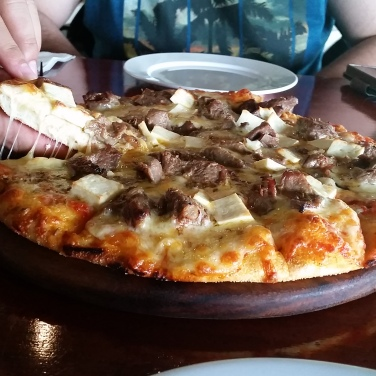 Pizza from the Pappagallo Italian Restaurant