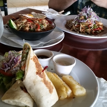 Lunch at the Lagoon Bar & Grill Restaurant