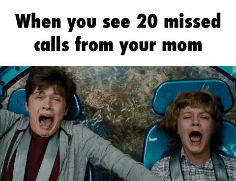 missed calls mum