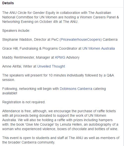 Women in Careers - The Gender Institute - 4 October 2016