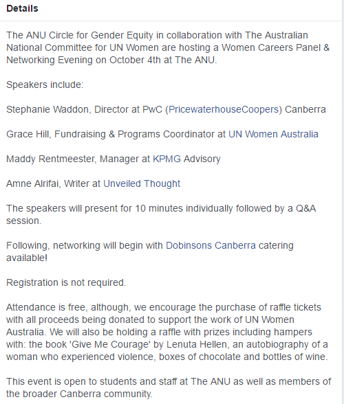 Women in Careers - The Gender Institute - 4 October 2016
