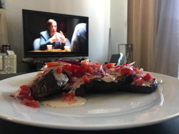 Healthy eggplant tahini recipe