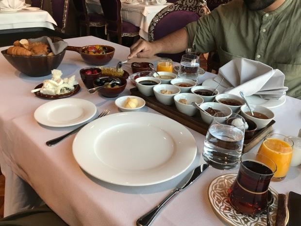 breakfast at ajwa hotel sultanahmet istanbul